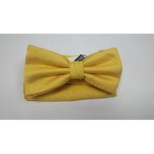 Классическая бабочка для рубашки желтая